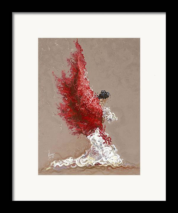 Dance Framed Print featuring the painting Fire by Karina Llergo Salto