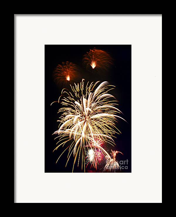Firework Framed Print featuring the photograph Fireworks by Elena Elisseeva