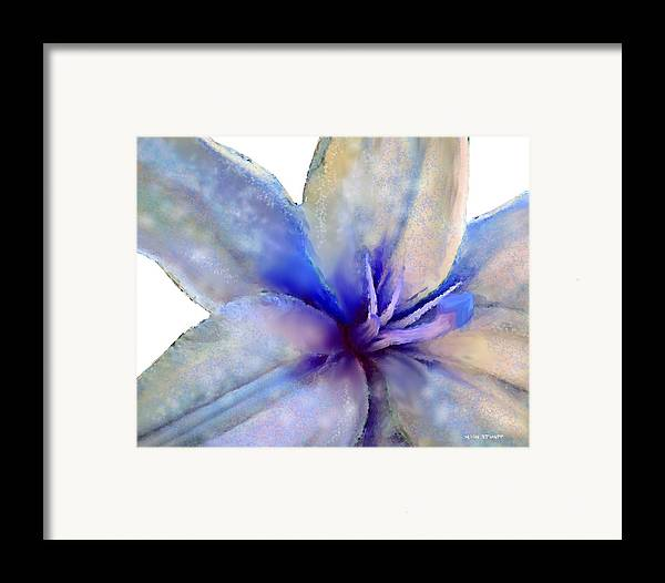 Floral Paintings Framed Print featuring the painting Floral Series - Lily by Moon Stumpp