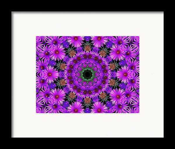 Kaleidoscope Framed Print featuring the photograph Flower Power by Kristie Bonnewell