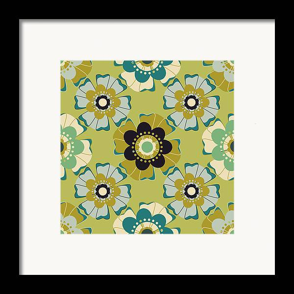 Posters Framed Print featuring the digital art Flowers 4 by Lisa Noneman