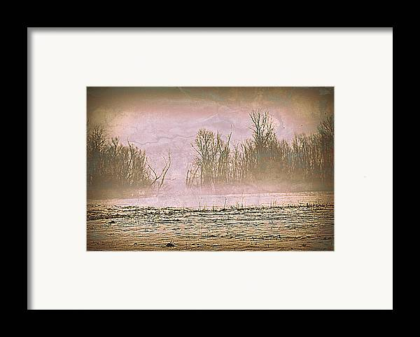 Landscape Framed Print featuring the photograph Fog Abstract 2 by Marty Koch