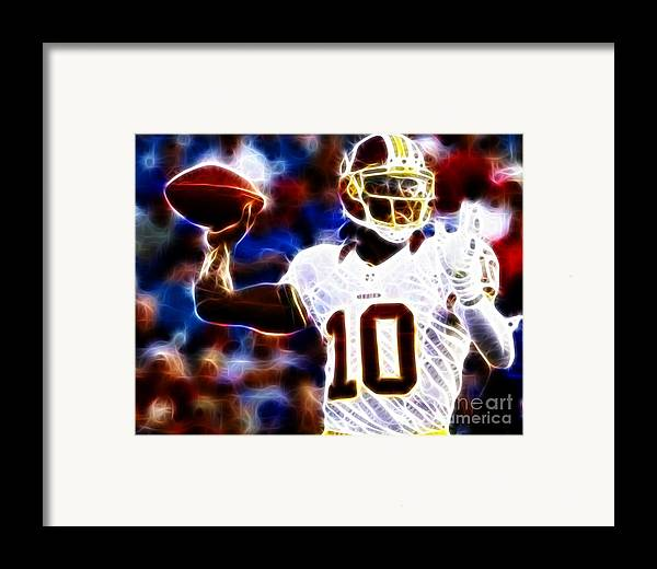 Rg3 Framed Print featuring the photograph Football - Rg3 - Robert Griffin IIi by Paul Ward