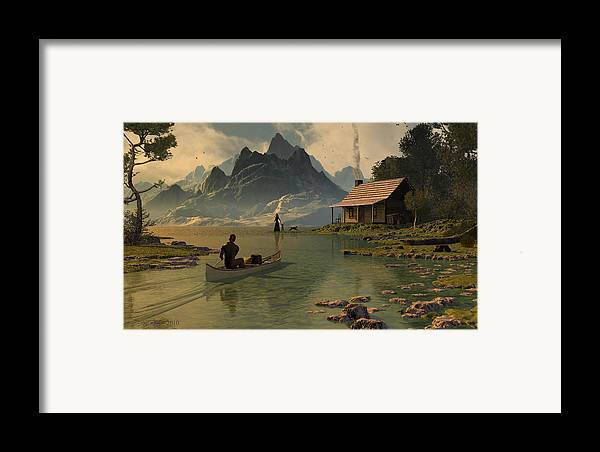 Dieter Carlton Framed Print featuring the digital art For All That I Can See by Dieter Carlton