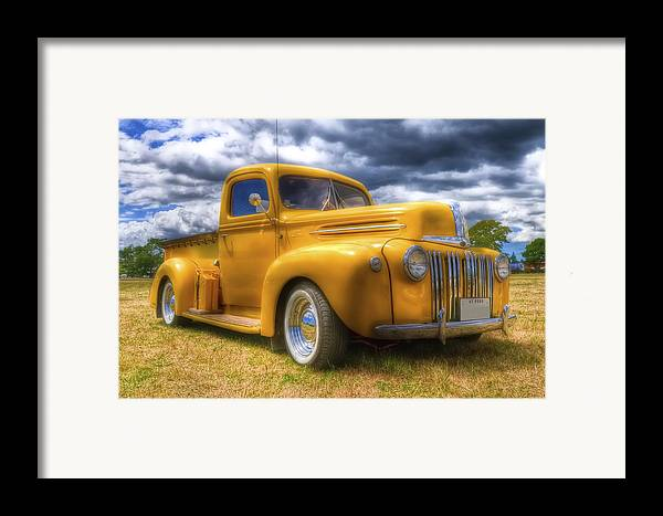 Ford Pickup Framed Print featuring the photograph Ford Jailbar Pickup Hdr by Phil 'motography' Clark