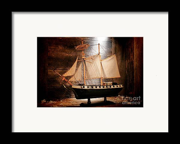 Ship Framed Print featuring the photograph Forgotten Toy by Olivier Le Queinec