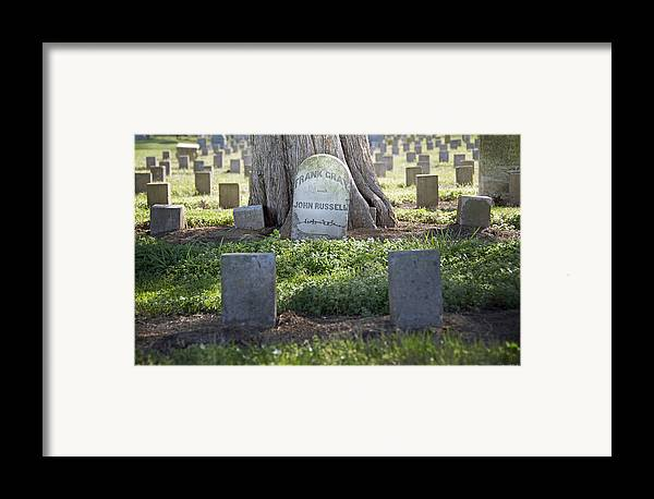 Funerary Framed Print featuring the photograph Frank And John by Steven Michael