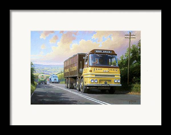 united Kingdom Framed Print featuring the painting Frank Tucker's Erf. by Mike Jeffries