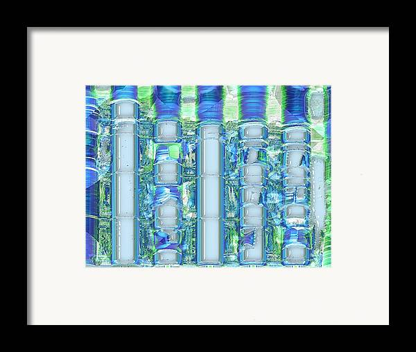 Abstract Framed Print featuring the digital art Freeze Warning by Wendy J St Christopher