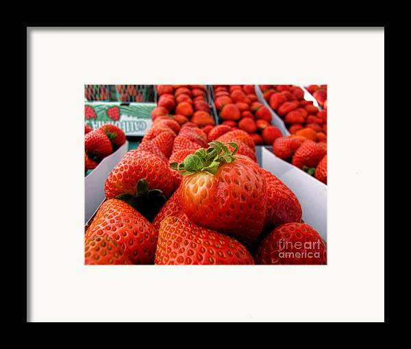 Fruit Framed Print featuring the photograph Fresh Strawberries by Peggy Hughes