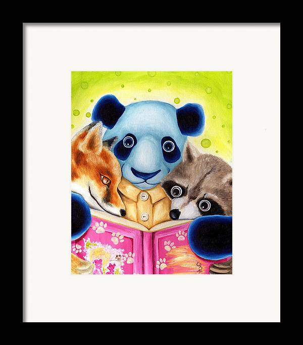 Panda Illustration Framed Print featuring the painting From Okin The Panda Illustration 10 by Hiroko Sakai