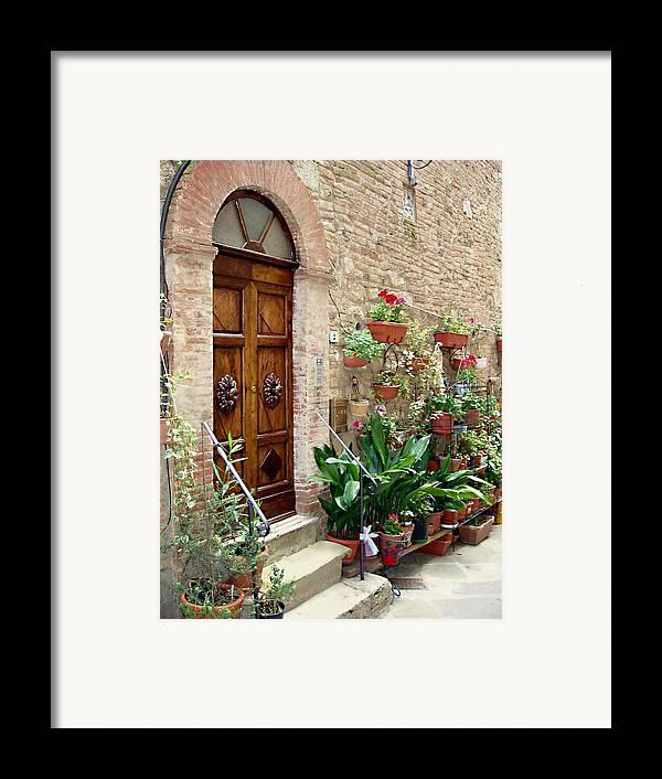 Front Door Framed Print featuring the photograph Front Door by Ellen Henneke
