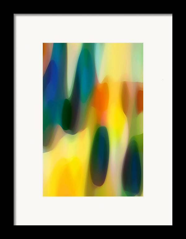 Fury Framed Print featuring the painting Fury Rain 4 by Amy Vangsgard