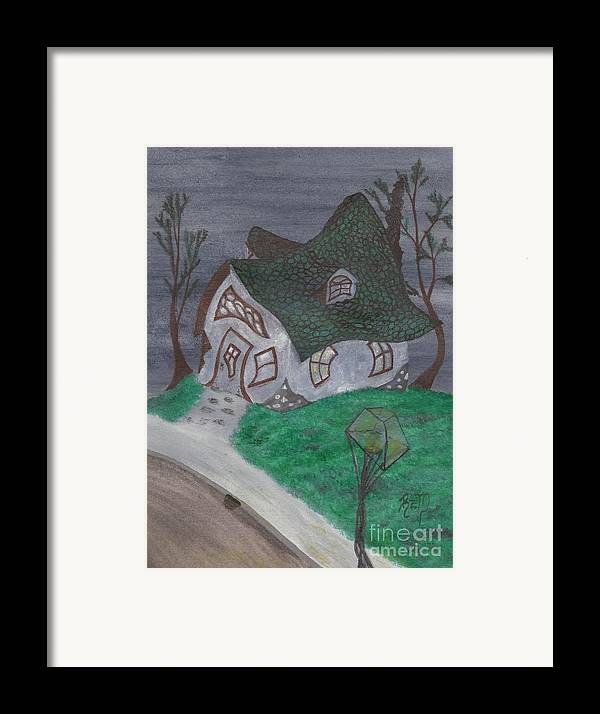 Gaslight Framed Print featuring the painting Gaslight Whimsy by Robert Meszaros