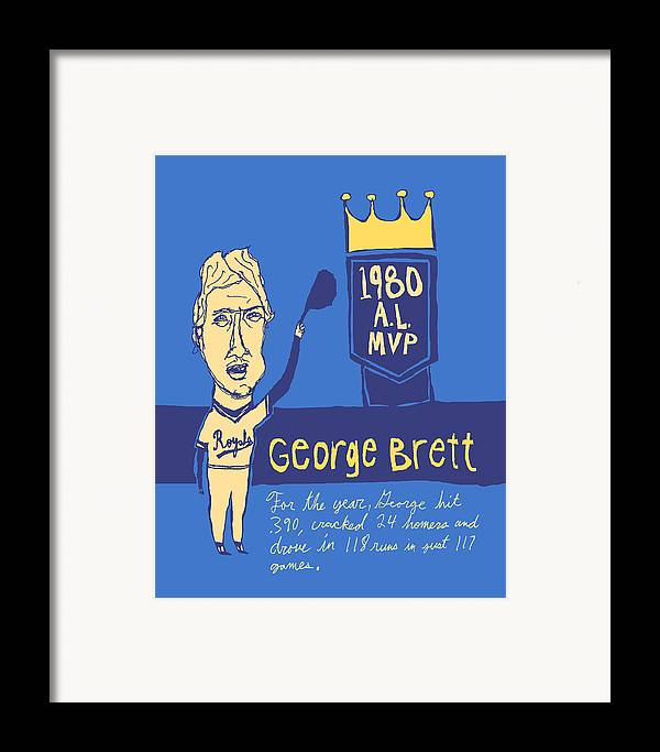 George Brett Framed Print featuring the painting George Brett Kc Royals by Jay Perkins