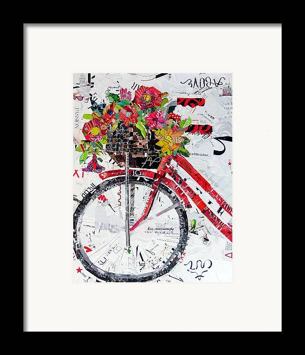 Torn Paper Collage Framed Print featuring the painting Get Your Spring Fix by Suzy Pal Powell