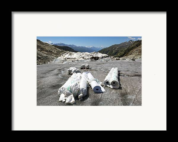 Glacier Framed Print featuring the photograph Glacier Protection by Science Photo Library