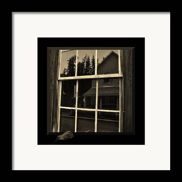 Western Framed Print featuring the Glass Ghost by Barbara St Jean