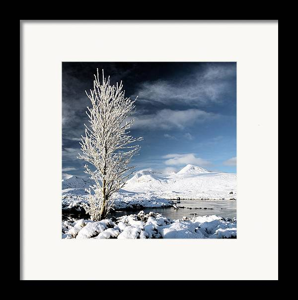 Snow Covered Landscape Framed Print featuring the photograph Glencoe Winter Landscape by Grant Glendinning