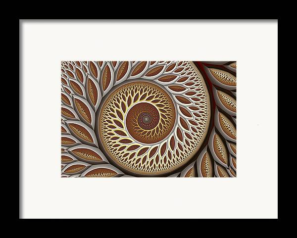 Abstract Framed Print featuring the digital art Glynn Spiral No. 2 by Mark Eggleston