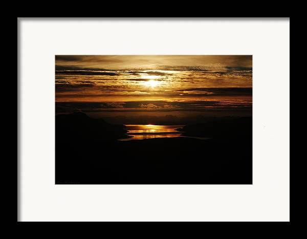 Norway Framed Print featuring the photograph Golden Norse Fjordland Sunset by David Broome