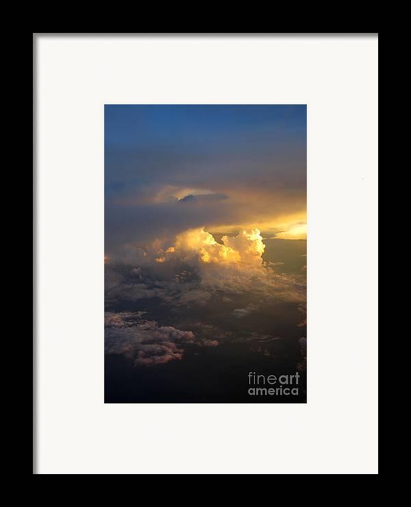 Cloud Framed Print featuring the photograph Golden Rays by Ausra Huntington nee Paulauskaite