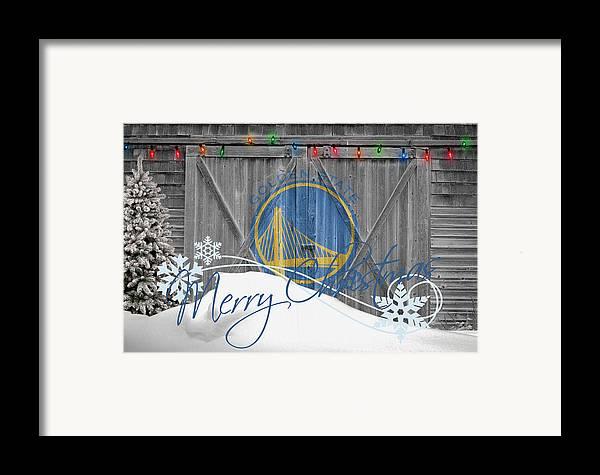 Warriors Framed Print featuring the photograph Golden State Warriors by Joe Hamilton