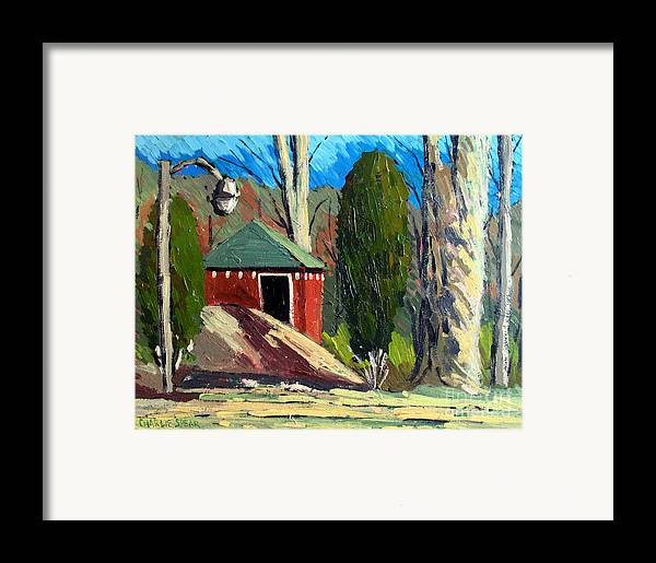 Golf Course Framed Print featuring the painting Golf Course Shed Series No.14 by Charlie Spear