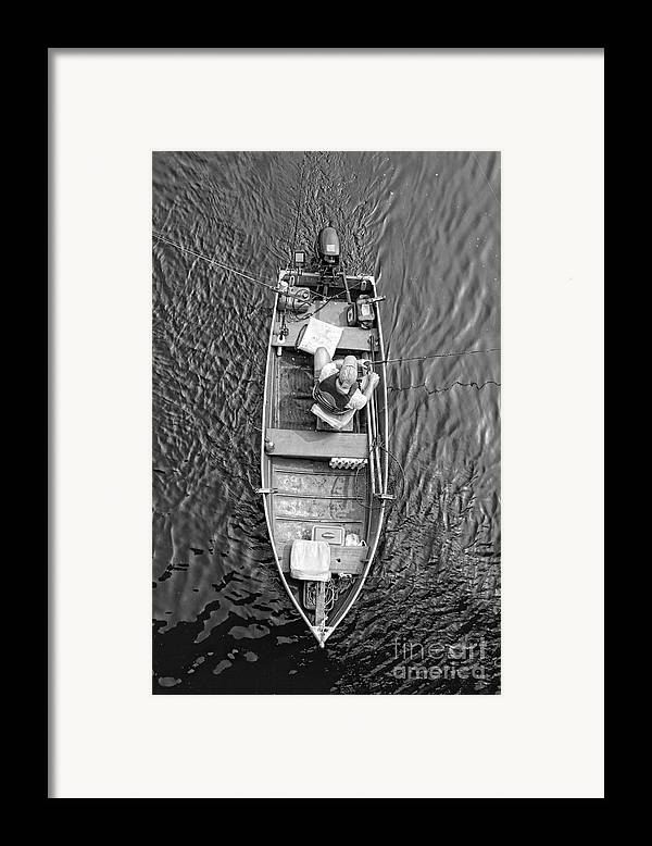 Delaware River Framed Print featuring the photograph Gone Fishing by Lee Dos Santos