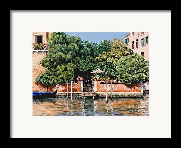Venice Oasis Framed Print featuring the painting Grand Canal Oasis by Michael Swanson
