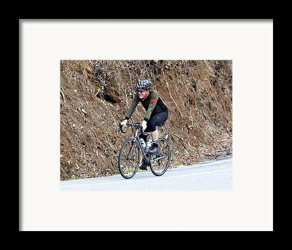 Sport Framed Print featuring the photograph Grand Fondo Rider by Susan Leggett