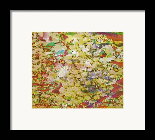 Grapes Framed Print featuring the painting Grape Abundance by PainterArtist FIN