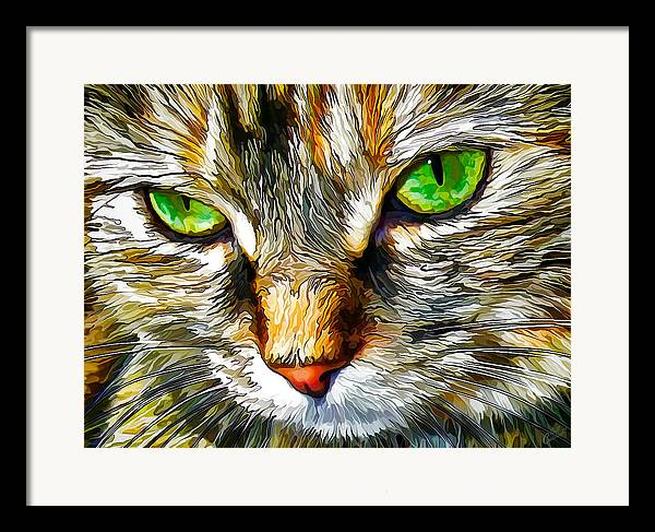 Nature Framed Print featuring the digital art Green-eyed Monster by Bill Caldwell -    ABeautifulSky Photography