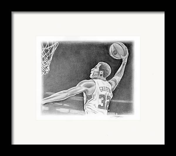 Clippers Framed Print featuring the drawing Griffin by Don Medina