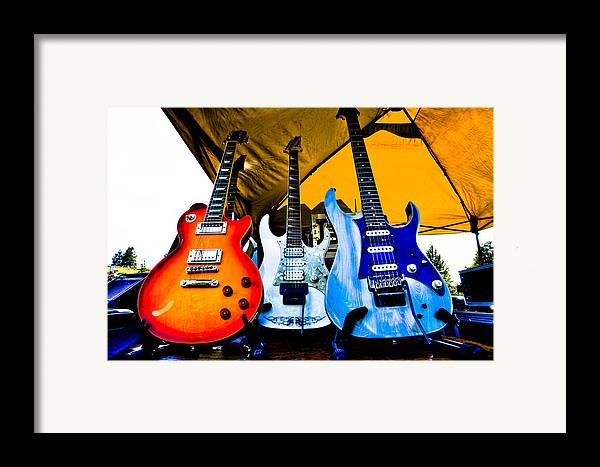 The Kingpins Framed Print featuring the photograph Guitar Trio by David Patterson