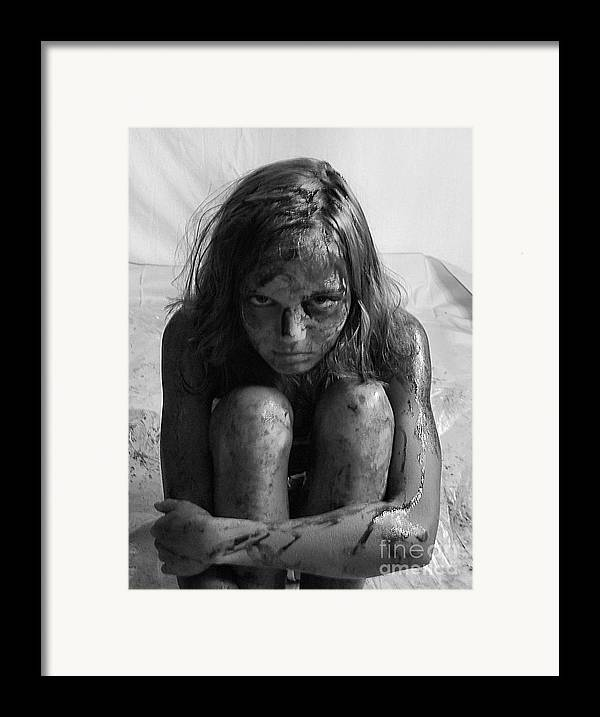Gulf Oil Spill Framed Print featuring the photograph Gulf Oil Spill Of 2010 Awareness Project- Amy II by Julie Dant