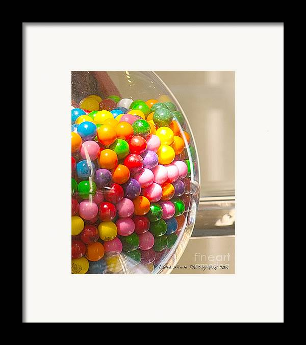 Gumball Machine Framed Print featuring the photograph Gumball Machine by Artist and Photographer Laura Wrede