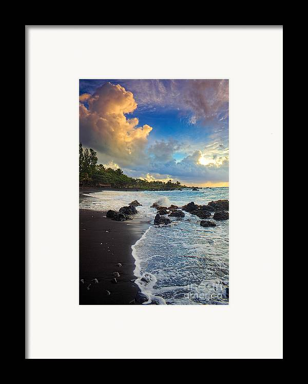 America Framed Print featuring the photograph Hana Clouds by Inge Johnsson