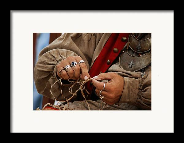 Hands Framed Print featuring the photograph Hands by Off The Beaten Path Photography - Andrew Alexander