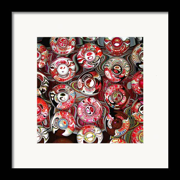 Abstract Framed Print featuring the digital art Hard Candies by Wendy J St Christopher