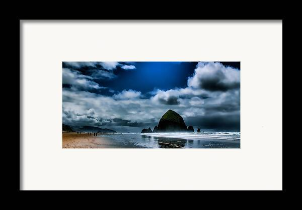 Haystack Rock IIi Framed Print by David Patterson
