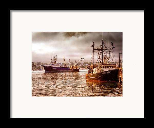 Seascape.dreamscape Framed Print featuring the photograph Heading Out by Bob Orsillo