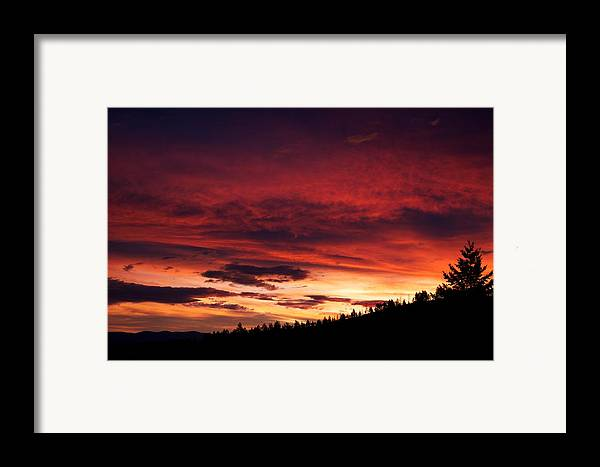 Sunset Framed Print featuring the photograph Hell Rising by Kevin Bone