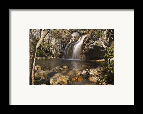 Waterfall Framed Print featuring the photograph High Falls Talledega National Forest Alabama by Charles Beeler