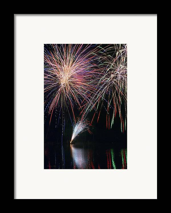 Fireworks Framed Print featuring the photograph Home Of The Brave Fireworks by Christina Rollo