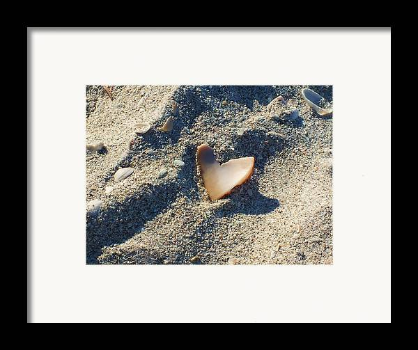 Seashell Framed Print featuring the photograph I Heart The Beach by Anna Villarreal Garbis
