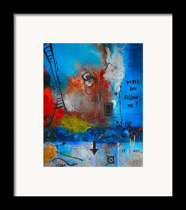 Abstract Framed Print featuring the painting If I Ask by Mirko Gallery