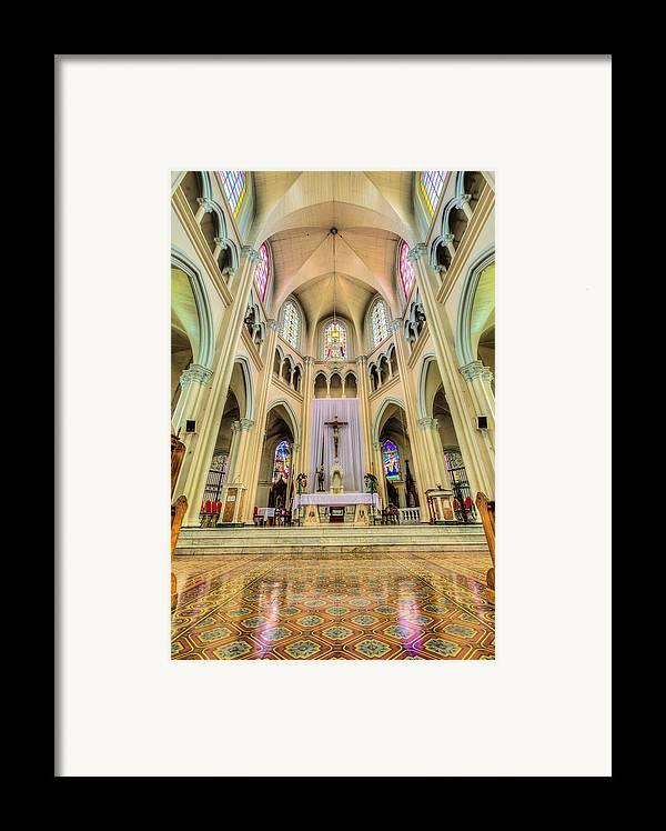 Altar Framed Print featuring the photograph Iglesia De San Isidro De Coronado In Costa Rica Vertical by Andres Leon