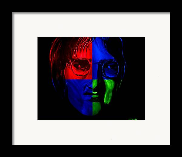 John Framed Print featuring the painting Imagine by Mark Moore