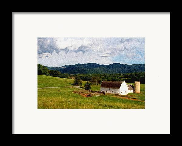 Farm Framed Print featuring the painting Impressionist Farming by John Haldane